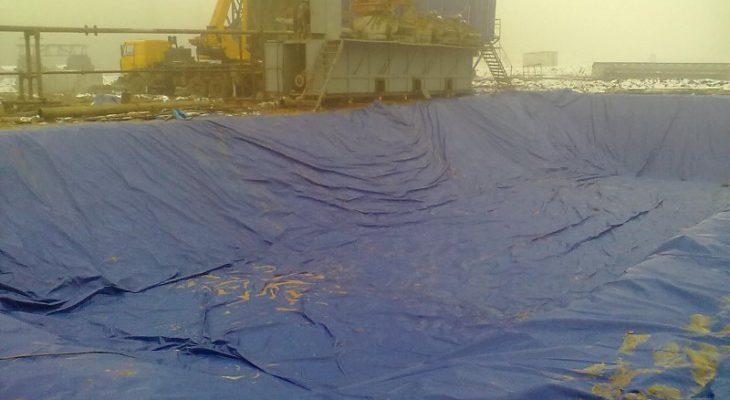 ПВХ вкладыш для нефтяного бассейна